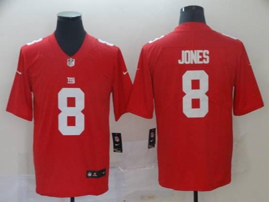 Mens Nfl New York Giants #8 Daniel Jones Red Vapor Untouchable Limited Player Jersey