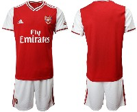 Mens 19-20 Soccer Arsenal Club ( Blank ) Red Home Short Sleeve Suit Jersey