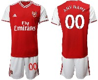 Mens 19-20 Soccer Arsenal Club ( Custom Made ) Red Home Short Sleeve Suit Jersey