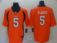 Mens Nfl Denver Broncos #5 Joe Flacco Orange Vapor Untouchable Limited Jersey