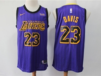 Mens 2019 New Nba Los Angeles Lakers #23 Davis Purple Nike City Edition Jersey