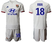 Mens 19-20 Soccer France National Team #18 Fekir White Home Short Sleeve Suit Jersey