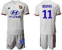 Mens 19-20 Soccer France National Team #11 Memphis White Home Short Sleeve Suit Jersey