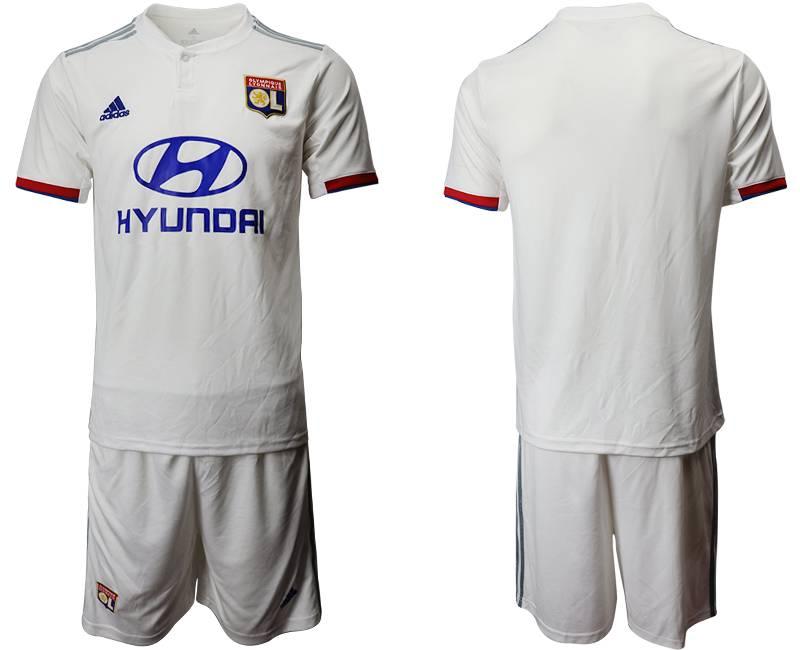 Mens 19-20 Soccer France National Team ( Custom Made ) White Home Short Sleeve Suit Jersey