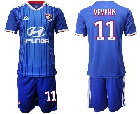 Mens 19-20 Soccer France National Team #11 Memphis Blue Away Short Sleeve Suit Jersey