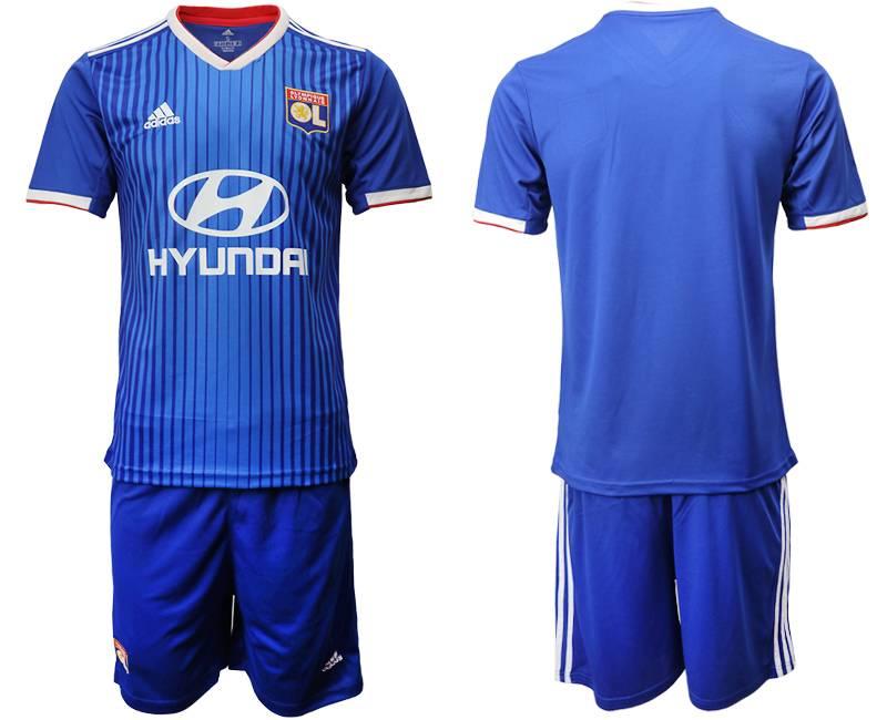 Mens 19-20 Soccer France National Team ( Custom Made ) Blue Away Short Sleeve Suit Jersey