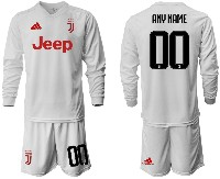 Mens 19-20 Soccer Juventus Club ( Custom Made ) Away Long Sleeve Suit Jersey