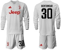 Mens 19-20 Soccer Juventus Club #30 Bentancur Away Long Sleeve Suit Jersey