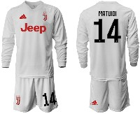 Mens 19-20 Soccer Juventus Club #14 Matuidi Away Long Sleeve Suit Jersey