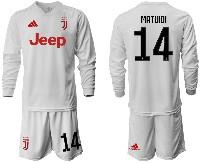 Mens 19-20 Soccer Juventus Club #14 Matuidi Away Long Sleeve Suit Jersey