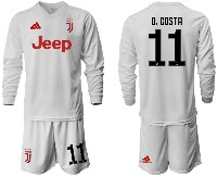 Mens 19-20 Soccer Juventus Club #11 D. Costa Away Long Sleeve Suit Jersey