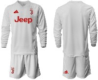 Mens 19-20 Soccer Juventus Club ( Blank ) Away Long Sleeve Suit Jersey