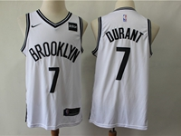 Mens Nba Brooklyn Nets #7 Kevin Durant White Nike Swingman Jersey
