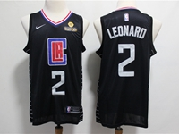 Mens Nba Los Angeles Clippers #2 Kawhi Leonard Black Swingman Jersey