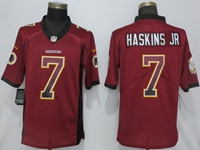 Mens Nfl Washington Redskins #7 Haskins Jr Red Drift Fashion Vapor Untouchable Limited Jersey