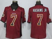 Mens Nfl Washington Redskins #7 Haskins Jr Red Drift Fashion Vapor Untouchable Limited Jersey