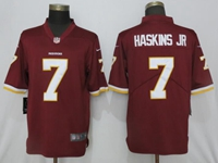 Mens Women Nfl Washington Redskins #7 Haskins Jr Red Vapor Untouchable Limited Player Jersey