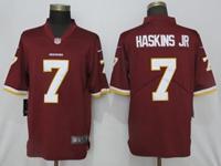Mens Women Nfl Washington Redskins #7 Haskins Jr Red Vapor Untouchable Limited Player Jersey