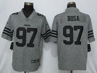 Mens 2019 Nfl San Francisco 49ers #97 Nick Bosa Stitched Gridiron Gray Vapor Untouchable Limited Jersey