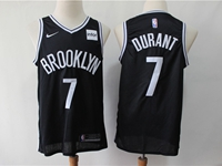 Mens Nba Brooklyn Nets #7 Kevin Durant Black Nike Swingman Jersey