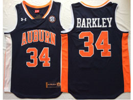 Mens Ncaa Nba Auburn Tigers #34 Barkley Dark Blue Jersey