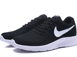 Mens Nike London Mesh Running Shoes Black&white Color