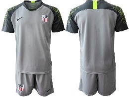 Mens 19-20 Soccer Usa National Team ( Custom Made ) Gray Goalkeeper Short Sleeve Suit Jersey