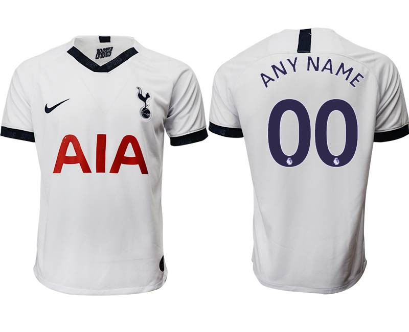 Mens 19-20 Soccer Tottenham Hotspur Club ( Custom Made ) White Home Thailand Jersey