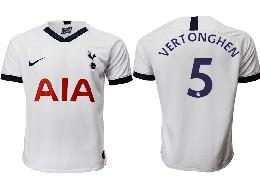 Mens 19-20 Soccer Tottenham Hotspur Club #5 Vertonghen White Home Thailand Jersey