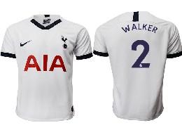 Mens 19-20 Soccer Tottenham Hotspur Club #2 Walker White Home Thailand Jersey