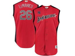 Mens 2019 Mlb All Star Game New York Yankees #26 Dj Lemahieu American League Red Sleeveless Cool Base Jersey