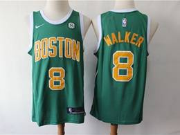 Mens 2019 New Nba Boston Celtics #8 Kemba Walker Green Earned Edition Swingman Jersey
