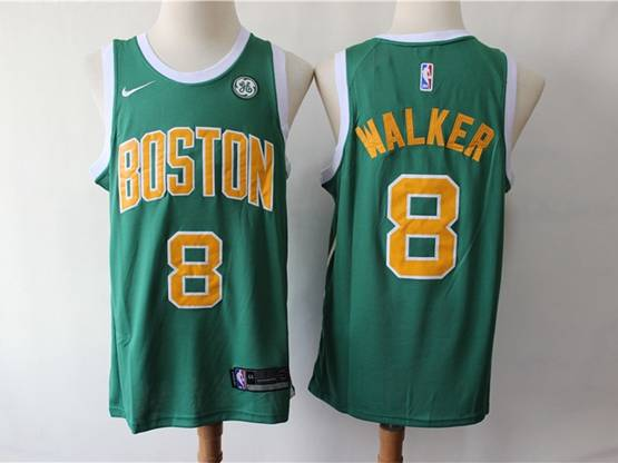 Mens 2019 New Nba Boston Celtics #8 Kemba Walker Green Earned Edition Swingman Jersey