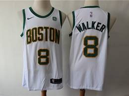 Mens 2019 New Nba Boston Celtics #8 Kemba Walker White City Edition Swingman Jersey