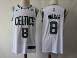 Mens 2019 New Nba Boston Celtics #8 Kemba Walker White Swingman Jersey
