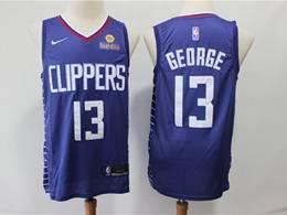 Mens Nba Los Angeles Clippers #13 Paul George New Blue Swingman Jersey