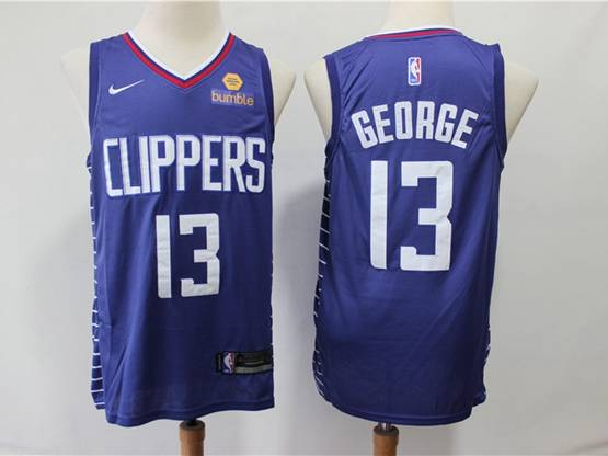 Mens Nba Los Angeles Clippers #13 Paul George New Blue Swingman Jersey