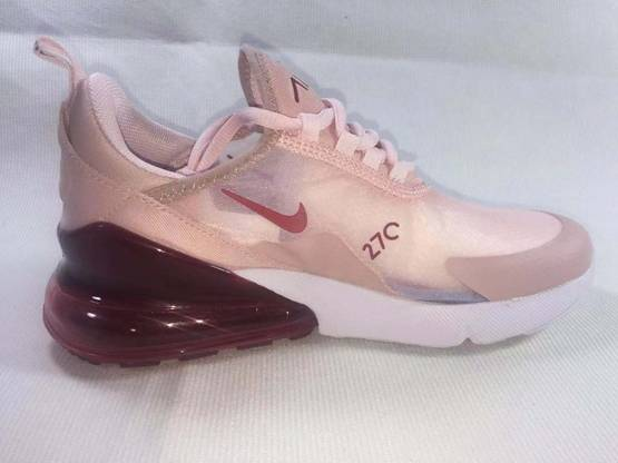 Women Nike Air Max 270 Running Shoes Pink Color