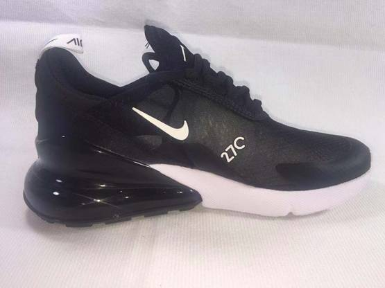 Mens And Women Nike Air Max 270 Running Shoes Black Color