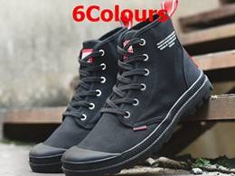Mens And Women Palladium High Canvas Shoes 6 Colors