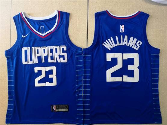 Mens Nba Los Angeles Clippers #23 Lou Williams Blue Icon Edition Swingman Jersey