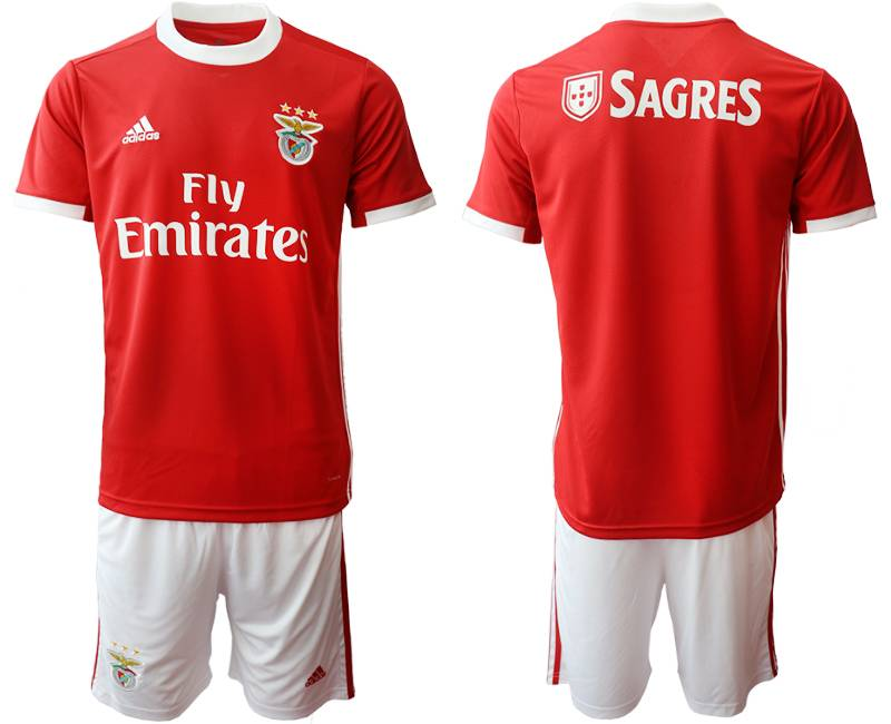 Mens 19-20 Soccer Sl Benfica ( Custom Made ) Red Home Short Sleeve Suit Jersey