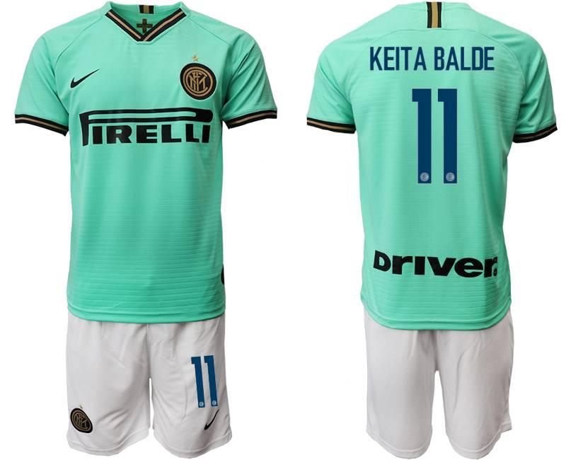 Mens 19-20 Soccer Inter Milan Club #11 Keita Balde Green Away Short Sleeve Suit Jersey