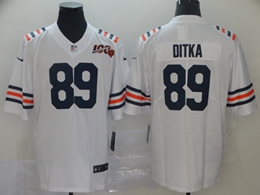 Mens Nfl Chicago Bears #89 Mike Ditka White 100th Season Nike Vapor Untouchable Limited Jersey