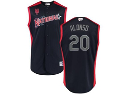 Mens 2019 Mlb All Star Game New York Mets #20 Pete Alonso Blue Sleeveless Cool Base Jersey