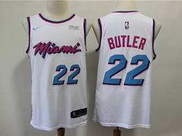 Mens Nba Miami Heat #22 Jimmy Butler White City Edition Nike Swingman Jersey