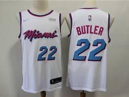 Mens Nba Miami Heat #22 Jimmy Butler White City Edition Nike Swingman Jersey