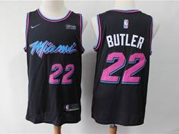 Mens Nba Miami Heat #22 Jimmy Butler Black City Edition Nike Swingman Jersey
