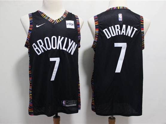 Youth Nba Brooklyn Nets #7 Kevin Durant Black City Edition Nike Jersey