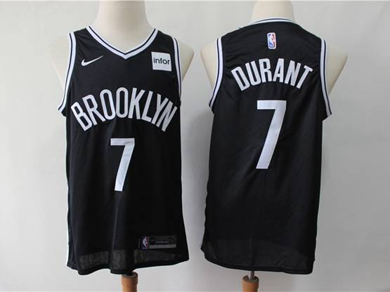 Youth Nba Brooklyn Nets #7 Kevin Durant Black Nike Swingman Jersey